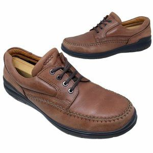 Ecco Mens Oxfords Shoes Brown Vegetable Tanned 45